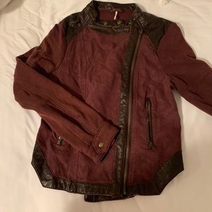 Free People Jackets & Coats - Free people maroon jacket